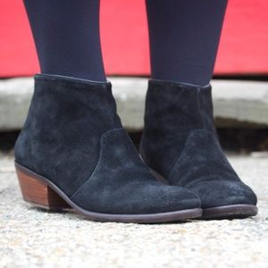 modern techniques best place highly praised Boden Chic Ankle Boots Navy Suede Low Heel Zipper